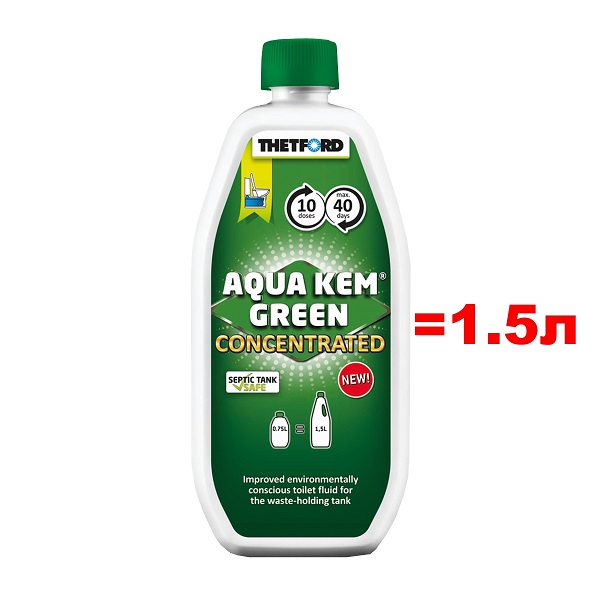 Концентрат Thetford Aqua Kem Green Concentrated 0,75л (аналог 1,5л жидкост фото 1